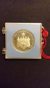 Stříbrná mince 50 Kčs proof, 50 výročí KSČ