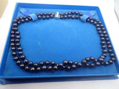 Náhrdelník pravé tahitské perly, dvouřadý délka 2x45cm