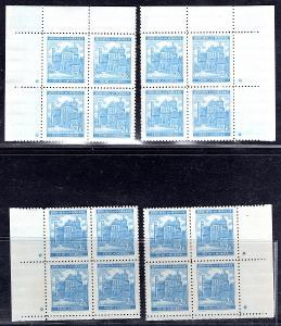 Protektorát/59 a, 2 K,  jasně modrá, Pardubice, 16 ti ks minia/1740/12