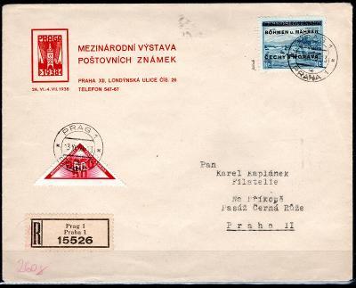 Protektorát/R obálka mezinárodní výstavy poštovních známek, Pr/1852/10