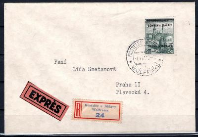 Protektorát/R, Ex  dopis z Kostelce u Jihlavy 4/VIII/39 do Pra/1955/15