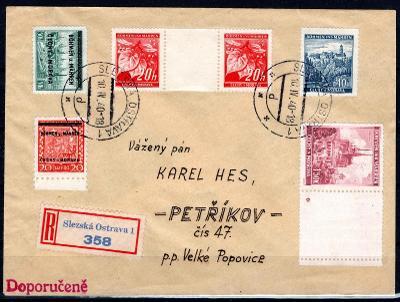 Protektorát/R dopis ze Slezské Ostravy 10/IV/40 do Velkých Pop/2004/13