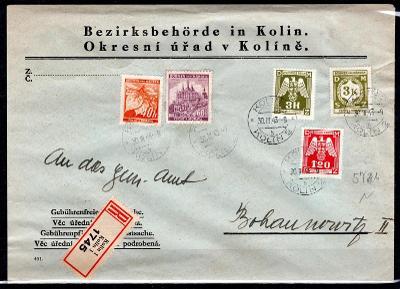 Protektorát/služební dopis z Okresního úřadu Kolín zaslán jako/2119/17