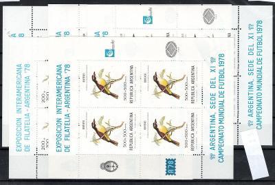 Zámoří/Argentina - Mi.1347 - 51 Klb Fauna, tiskové listy/2287/7