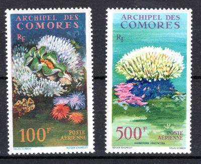 Zámoří/Archipal des Comores - Mi.548 + 50, mořská fauna/2291/10