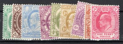 Anglické Kolonie/Cape of Good Hope ; SG 70 - 78 ; kat. cena  2/2464/12