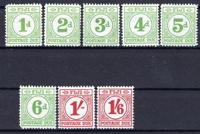 Anglické Kolonie/Fiji Doplatní D 11 - D 18 ; kat. cena 140 Lib/2650/13
