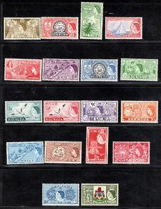 Anglické Kolonie/Bermuda - SG. 135 - 50, Alžběta, kompletní řa/3035/18