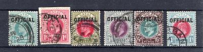 Anglické Kolonie/Natal - SG 1 - 6, přetisk OFFICIAL, kat. 275,-/2375/7