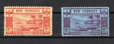 Anglické Kolonie/New Hebrides - SG 62 - 3, 1 x nahnědlá skvrnka/2376/7