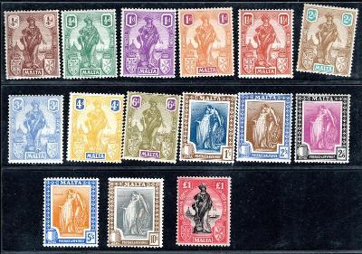 Anglické Kolonie/Malta - Mi. 82 - 96 ; kat. cena 600 euro /2489/12