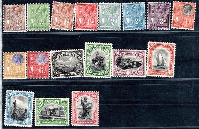 Anglické Kolonie/Malta ; SG 115 - 131  - kat. cena 300 liber /2491/12