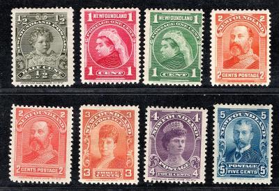 Anglické Kolonie/New Founland - SG. 83 - 90, Viktorie,  komple/3100/18