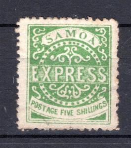 Anglické Kolonie/Samoa - SG 19, zahnědlé zoubkování, EXPRESS, k/2386/7