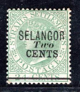 Anglické Kolonie/Selangor, SG 45, Viktoria, přetisk, kat. 300,/2908/17