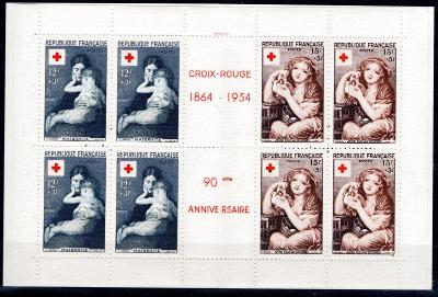 Francie/Francie - Mi. 1032 - 3 MH - sešitek, červený kříž, kat /2596/6