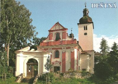 Děštná kostel Česká Lípa