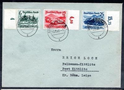 Deutsches Reich/obálka se známkami DR 686 - 8, automobily/2559/15