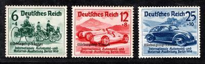 Deutsches Reich/DR - Mi. 695 - 7, automobilová výstava s přeti/3263/18