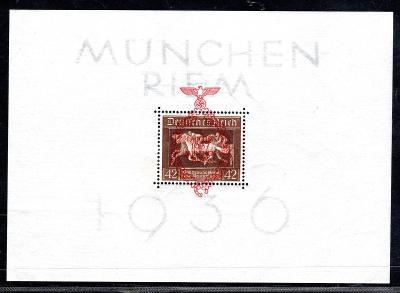 Deutsches Reich/DR - Mi. Bl. 10, hnědá stuha, aršík s přetiske/3279/18
