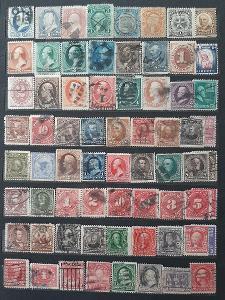 Sbírka poštovních známek USA.