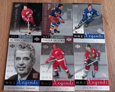 Lot karet NHL - UD Legends 01/02 (53 karet)
