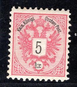 Rakousko/Rakousko - Mi. 46 D, znak, červená 5 Kr, kat 100,-/19.60296