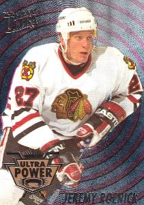 ROENICK Jeremy Fleer Ultra 1994/95 Ultra Power č. 8 Chicago
