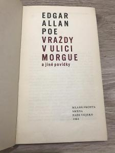 Vraždy v ulici Morgue a jiné povídky - Poe Edgar Allan