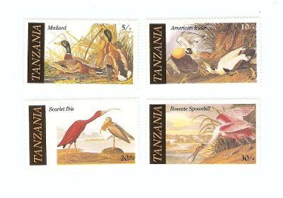 ** Tanzanie, Michel 315-318 ptáci
