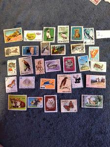 Poštovní známky zvířata