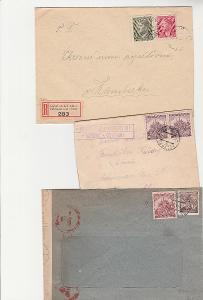 B. und M., protektorát, 7 ks dopisů , cca 1943