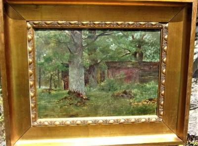 Obraz, olej na plátně, signace Jan Minařík
