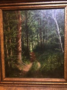 Obraz, olej na lepence, signace Julius Mařák