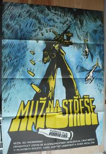 Muž na střeše (filmový plakát, film Švédsko 1976, re