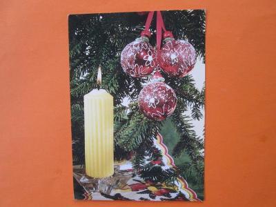 VÁNOCE - pohlednice - vánoční ozdoby