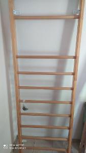 dřevěné žebřiny 240 x 80,5 x 1O cm