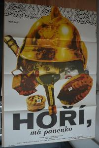 Hoří, má panenko (filmový plakát, film ČSSR 1967, re