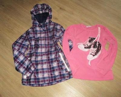 Dívčí šus´táková bunda - CRIVIT + tričko - ( 146/152 )