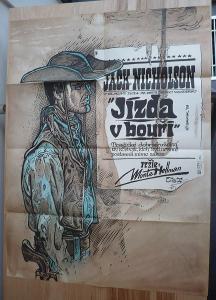 Jízda v bouři (filmový plakát, film USA 1966, režie Mo