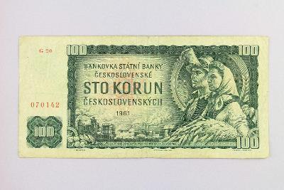 ČESKOSLOVENSKO // 100 Kčs 1961 G 20 / neperf. /97