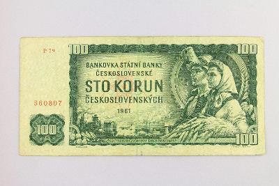 ČESKOSLOVENSKO // 100 Kčs 1961 P 79 / neperf. /98