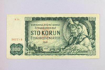 ČESKOSLOVENSKO // 100 Kčs 1961 R 76 / neperf. /99