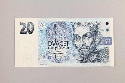 ČESKÁ REPUBLIKA // 20 Kč 1994 B 30 / neperf. /103 UNC