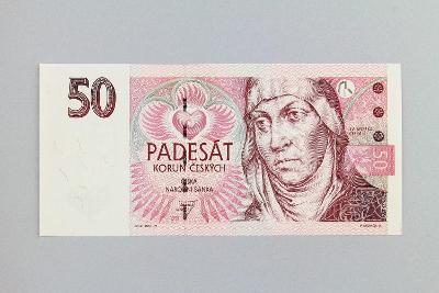 ČESKÁ REPUBLIKA // 50 Kč 1997 E 08 / neperf. /106 UNC