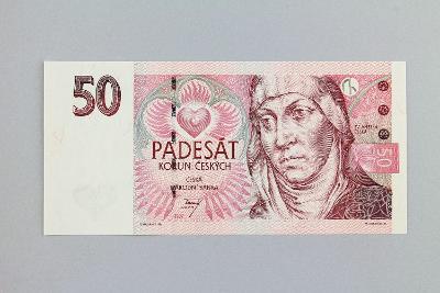 ČESKÁ REPUBLIKA // 50 Kč 1997 E 18 / neperf. /107 UNC
