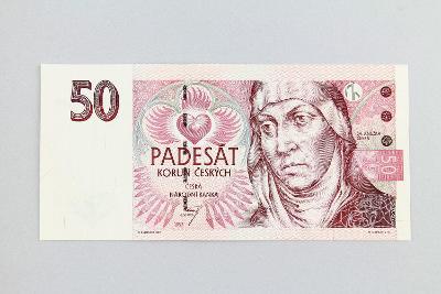 ČESKÁ REPUBLIKA // 50 Kč 1997 E 43 / neperf. /108 UNC