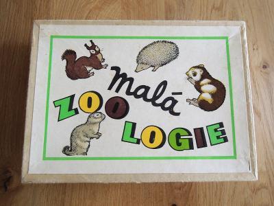 Retro hra Malá zoologie , stará naučná hra pro děti