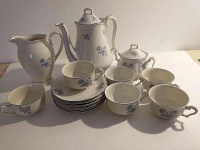 čajový servis s konvicí, mlíčenkou a cukřenkou