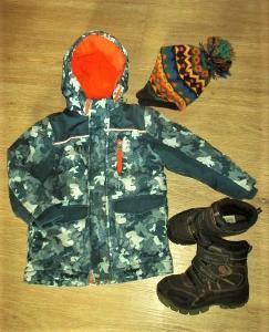 Chlapecká zimní bunda - (110/116) + sněhule - DEI TEX - (30) + čepice